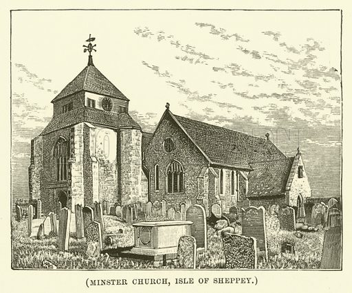 Minster Church, Isle of Sheppey. Illustration for Wesley His Own Biographer, being selections from the journals of John Wesley (CH Kelly, 1891).