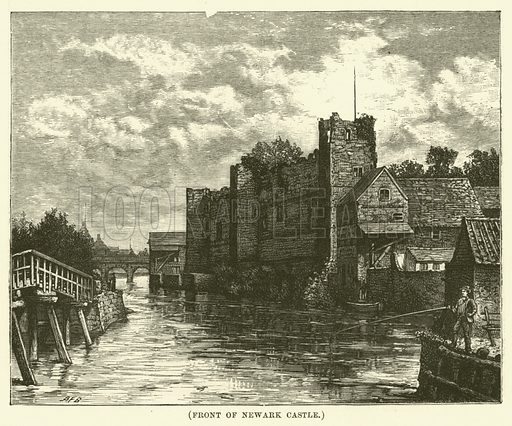 Front of Newark Castle. Illustration for Wesley His Own Biographer, being selections from the journals of John Wesley (CH Kelly, 1891).