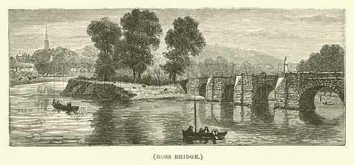 Ross Bridge. Illustration for Wesley His Own Biographer, being selections from the journals of John Wesley (CH Kelly, 1891).