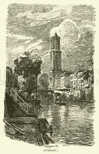 Utrecht. Illustration for Wesley His Own Biographer, being selections from the journals of John Wesley (CH Kelly, 1891).