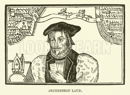 Archbishop Laud. Illustration for The Pictorial Press its Origins and Progress by Mason Jackson (Hurst and Blackett, 1885).