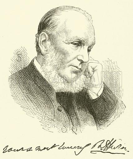 Dr Cronyn, Bishop of Huron. Illustration for Sunday at Home, 1872.