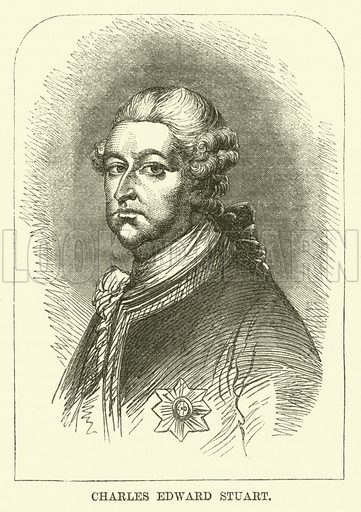 Charles Edward Stuart. Illustration from The Book of Days (WR Chambers, c 1870).