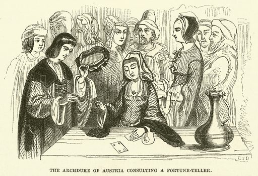 The Archduke of Austria consulting a fortune-teller