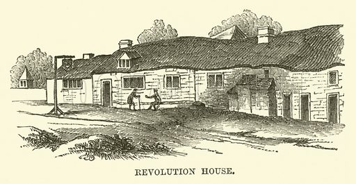 Revolution House. Illustration from The Book of Days (WR Chambers, c 1870).