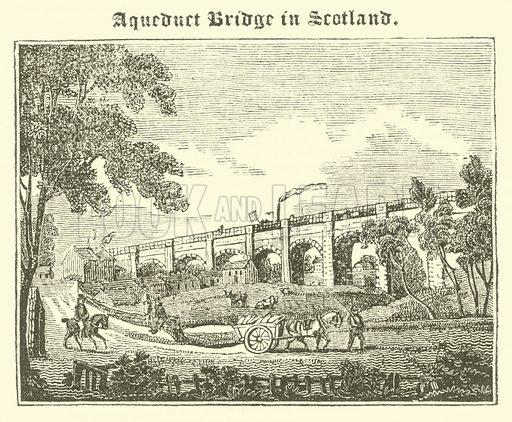 Aqueduct Bridge in Scotland. Illustration for The Mirror of Literature, Amusement, and Instruction (J Limbird, 1823).