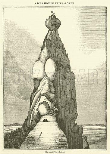 Le mont Peter-Botte. Illustration for Le Magasin Pittoresque (1833).