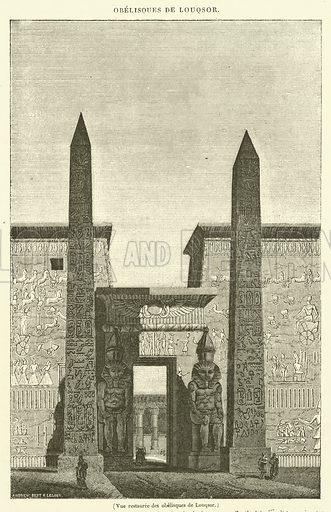 Vue restauree des obelisques de Louqsor. Illustration for Le Magasin Pittoresque (1833).