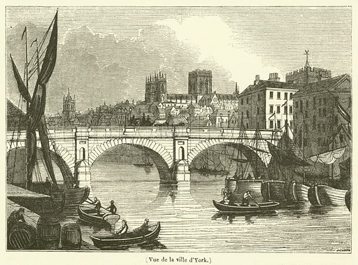 Vue de la ville d'York. Illustration for Le Magasin Pittoresque (1834).