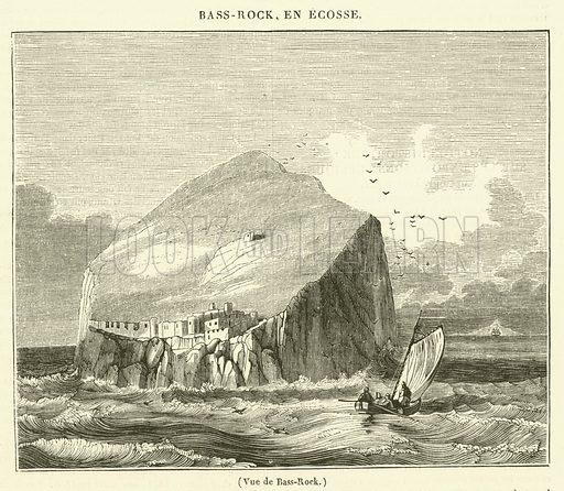 Vue de Bass-Rock. Illustration for Le Magasin Pittoresque (1834).