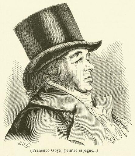 Francisco Goya, pemtre espagnol. Illustration for Le Magasin Pittoresque (1834).