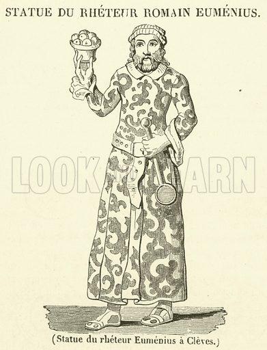 Statue du rheteur Eumenius a Cleves. Illustration for Le Magasin Pittoresque (1834).