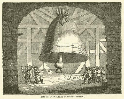 Tzar kolokol ou la reine des cloches a Moscou. Illustration for Le Magasin Pittoresque (1835).