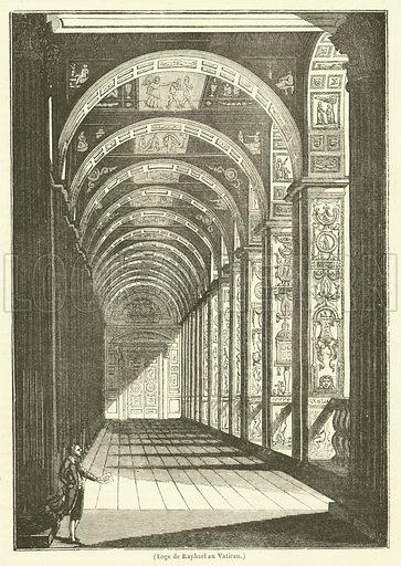 Loge de Raphael au Vatican. Illustration for Le Magasin Pittoresque (1836).