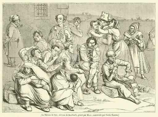 La Maison de fous. Illustration for Le Magasin Pittoresque (1836).