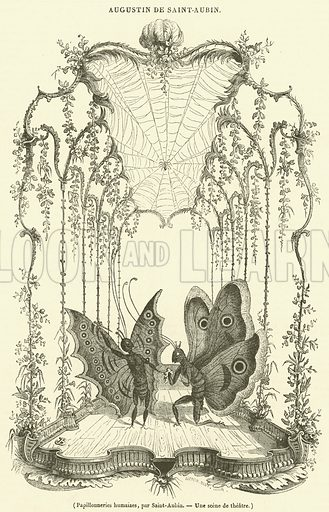 Papillonneries humaiaes. Illustration for Le Magasin Pittoresque (1836).