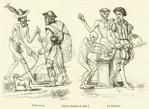 Danse macabre de Bale. Illustration for Le Magasin Pittoresque (1837).