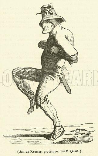Jan de Kramer, grotesque. Illustration for Le Magasin Pittoresque (1838).
