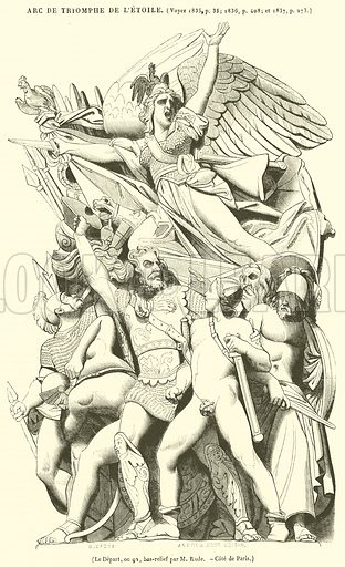 Le Depart, ou 92, bas-relief. Illustration for Le Magasin Pittoresque (1839).