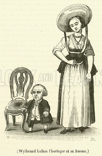 Wylbrand Lolkes l'horloger et sa femme. Illustration for Le Magasin Pittoresque (1839).