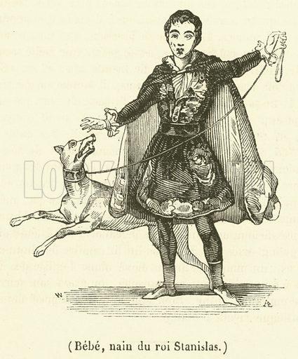 Bebe, nain du roi Stanislas. Illustration for Le Magasin Pittoresque (1839).