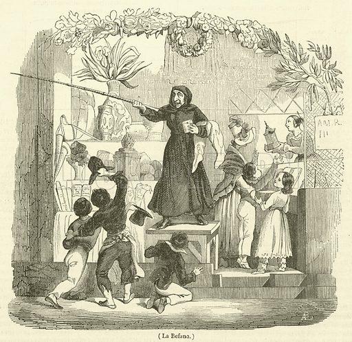 La Befana. Illustration for Le Magasin Pittoresque (1840).