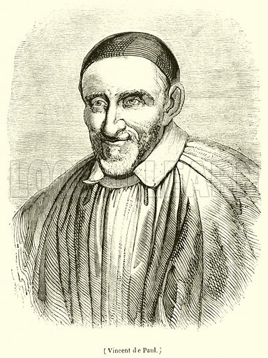 Vincent de Paul. Illustration for Le Magasin Pittoresque (1840).