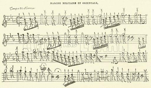 Marche Militaire et Orientale. Illustration for Le Magasin Pittoresque (1840).