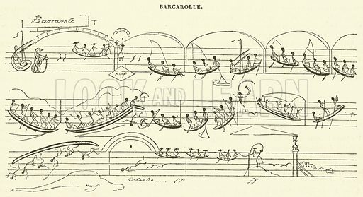 Barcarolle. Illustration for Le Magasin Pittoresque (1840).