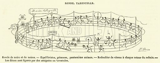 Ronde, Tarentelle. Illustration for Le Magasin Pittoresque (1840).