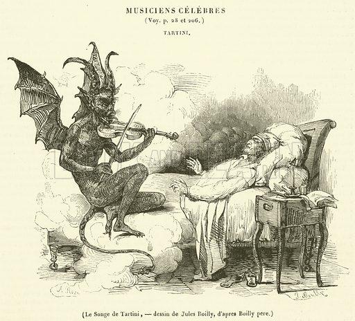 Le Songe de Tartini. Illustration for Le Magasin Pittoresque (1840).