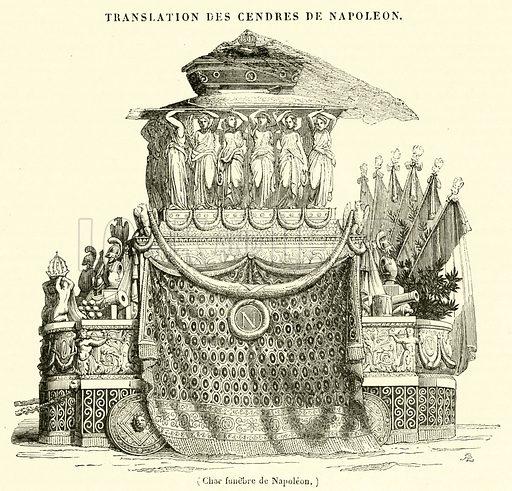 Char funebre de Napoleon. Illustration for Le Magasin Pittoresque (1841).