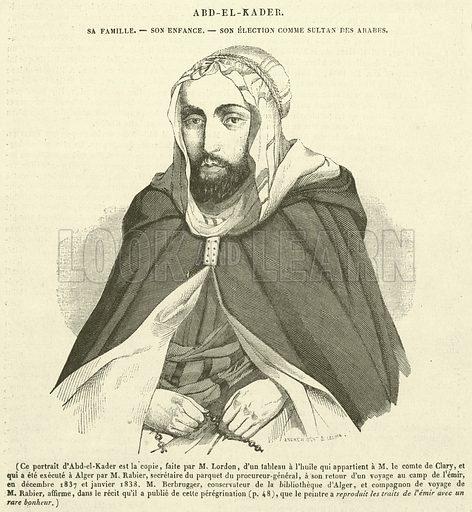 Abd-el-Kader, Sa Famille, Son Enfance, Son Election Comme Sultan des Arabes. Illustration for Le Magasin Pittoresque (1841).