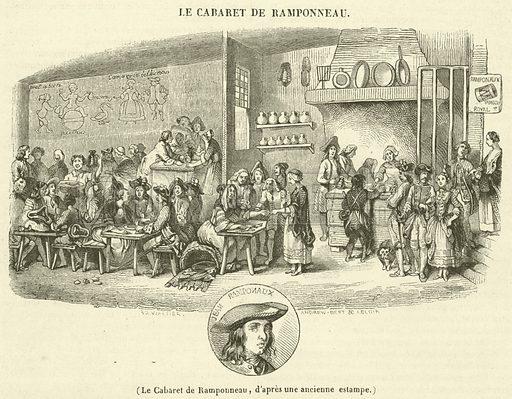 Le Cabaret de Ramponneau. Illustration for Le Magasin Pittoresque (1841).