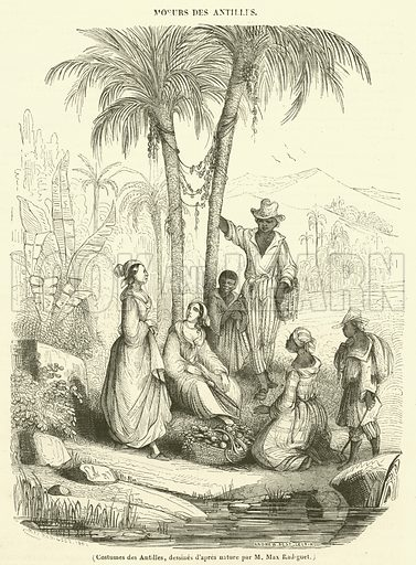 Costumes des Antilles. Illustration for Le Magasin Pittoresque (1842).