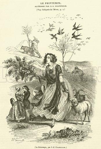 Le Printemps. Illustration for Le Magasin Pittoresque (1842).