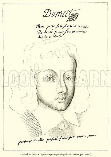 Portrait de Pascal a l'age de vingt-cinq ou vingt-six ans