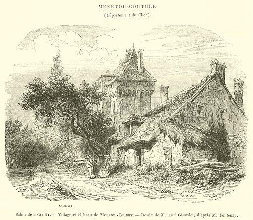 Salon De 1850 51 Village Et Chateau De Menetou Couture