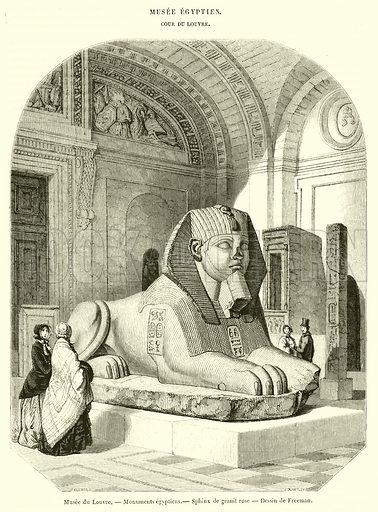 Musee du Louvre, Monuments egyptiens, Sphinx de granit rose