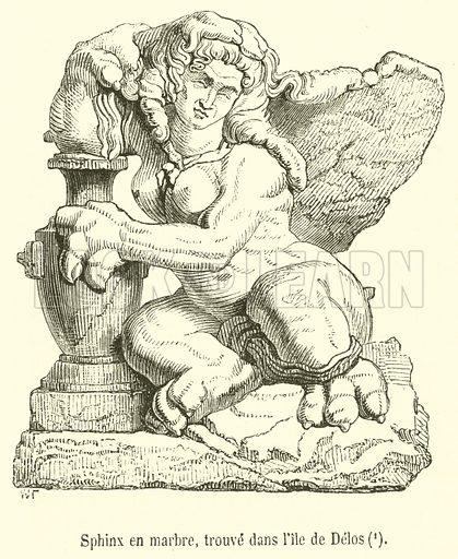 Sphinx en marbre, trouve dans l'ile de Delos