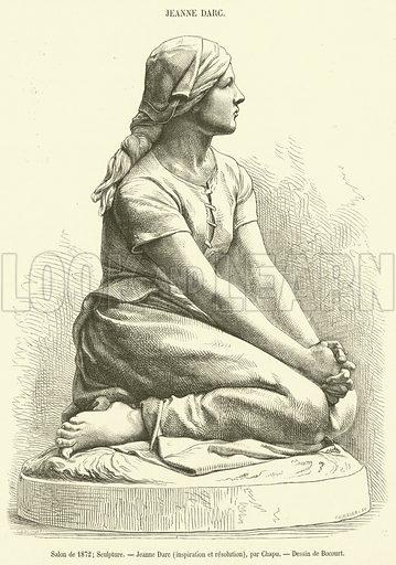 Salon de 1872, Sculpture, Jeanne Darc, inspiration et resolution