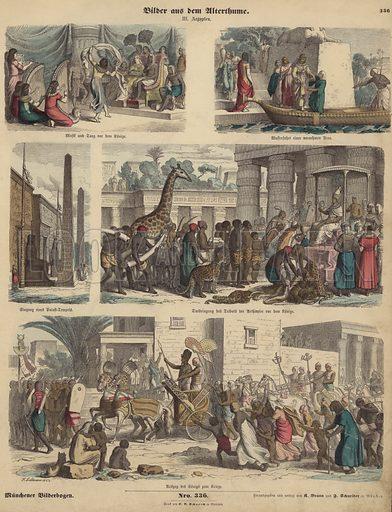 Ancient Egypt. Illustration from Bilder aus dem Alterthume (Braun & Schneider, Munich, 19th Century).