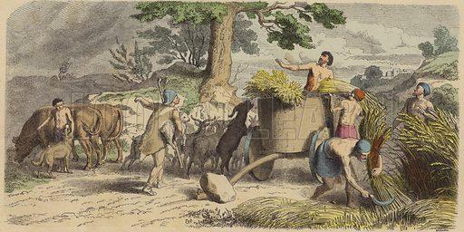 Rural life in Ancient Greece. Illustration from Bilder aus dem Alterthume (Braun & Schneider, Munich, 19th Century).