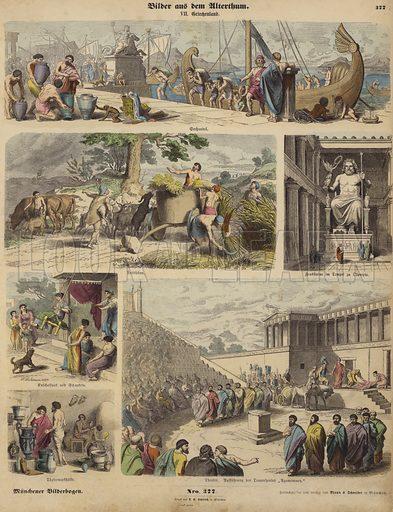 Ancient Greece. Illustration from Bilder aus dem Alterthume (Braun & Schneider, Munich, 19th Century).