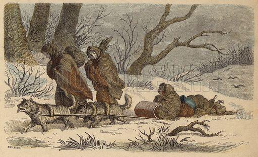 A Native American sled.