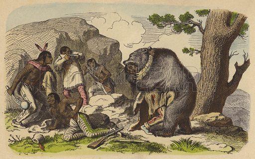 Native Americans hunting bears.