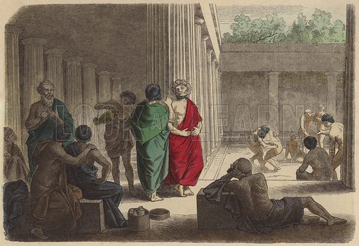 Scene in a gymnasium in Ancient Greece