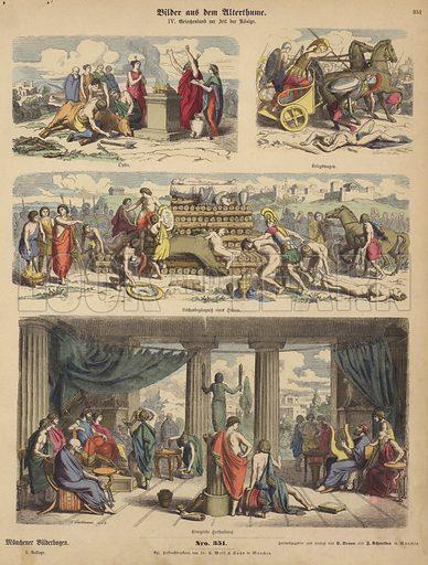 Ancient Greece in the time of the kings. Illustration from Bilder aus dem Alterthume (Braun & Schneider, Munich, 19th Century).
