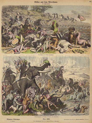 The Macedonians. Illustration from Bilder aus dem Alterthume (Braun & Schneider, Munich, 19th Century).