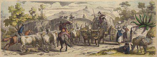Italian country road. Illustration from Die Welt in Bildern (Braun & Schneider, Munich, 19th Century).